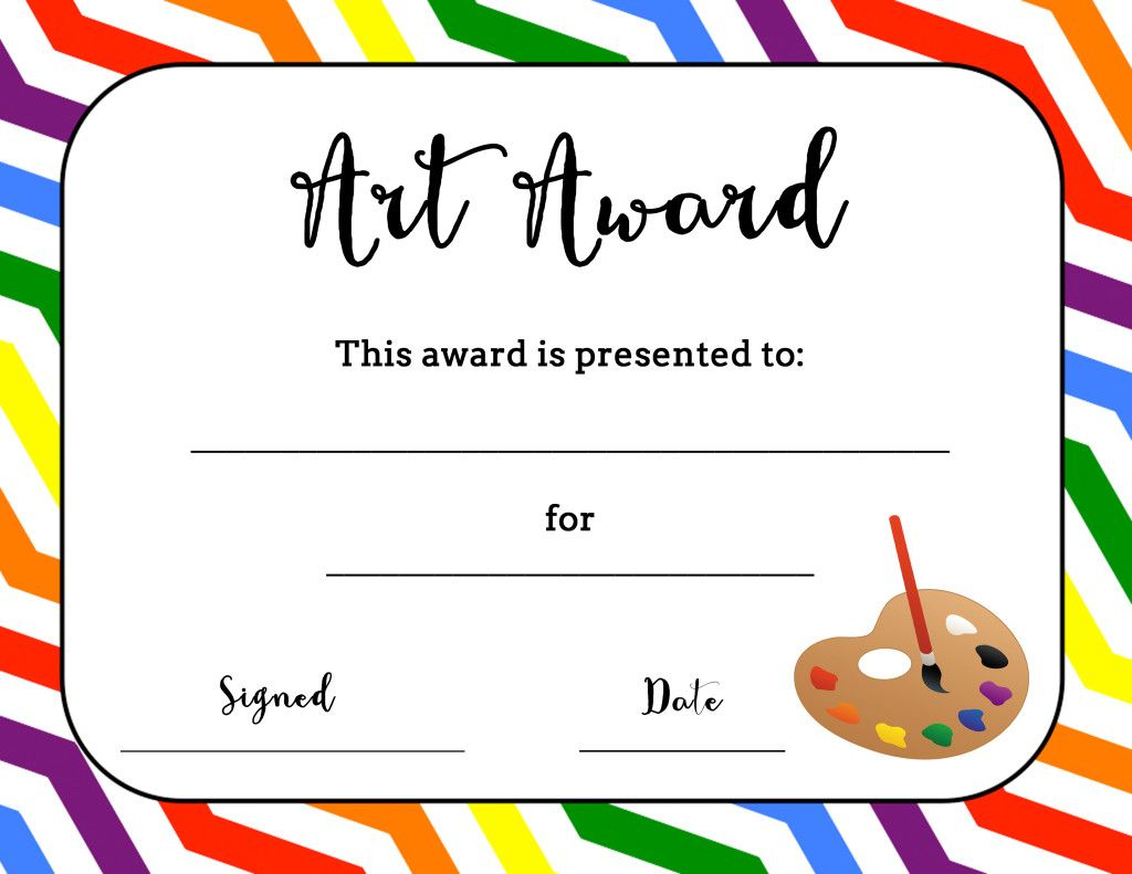 Art Award Certificate (Free Printable) | Art | Pinterest | Art - Free Printable Certificates And Awards