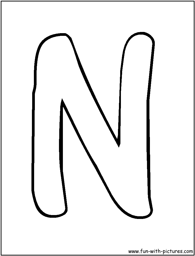 Art Projects For Letter N   Bubble Letters N Coloring Page Letter - Free Printable Bubble Letters Font