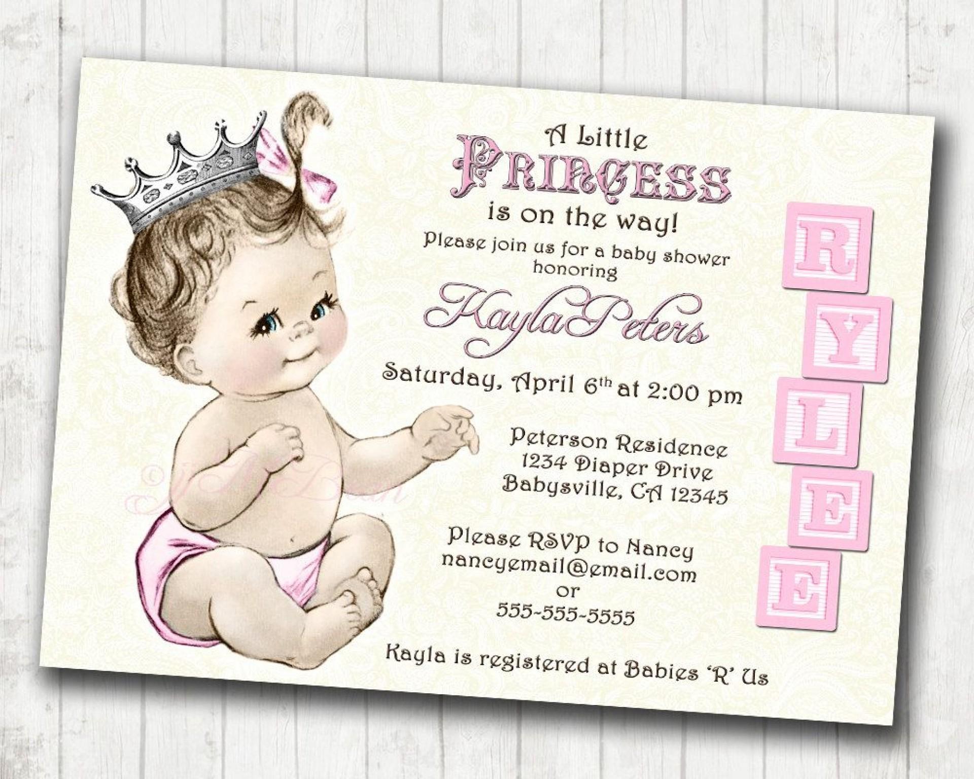 Astounding Princess Baby Shower Invitations Templates ~ Ulyssesroom - Free Printable Princess Baby Shower Invitations