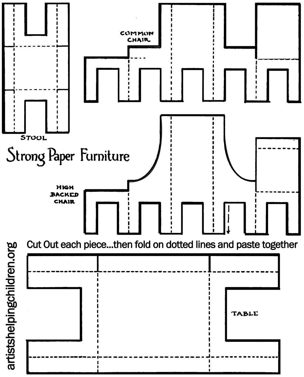 At Printable Furniture Templates - Template Ideas – Mentalrealestate - Free Printable Dollhouse Furniture Patterns