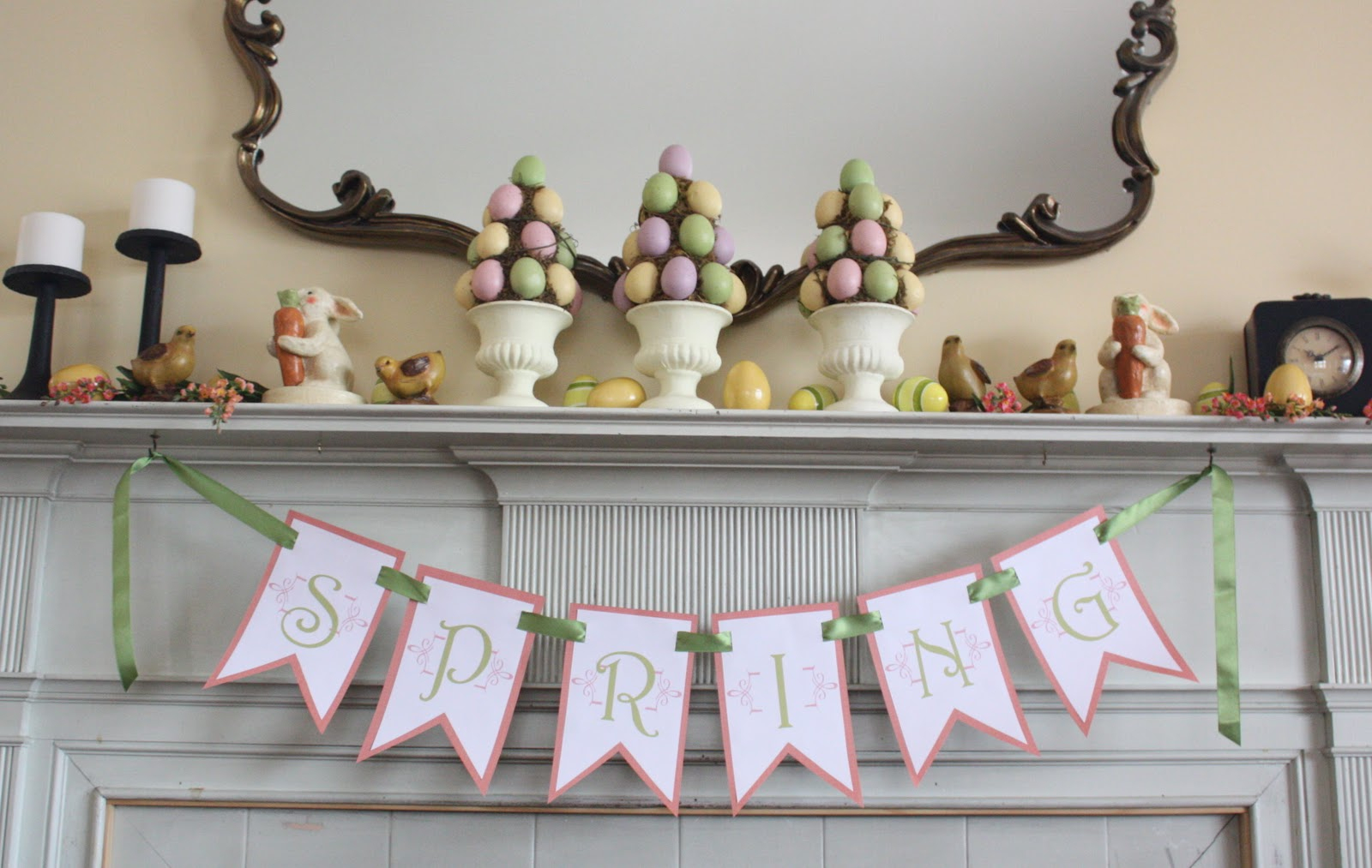 At Second Street: Spring Banner- Free Printable - Free Printable Spring Decorations