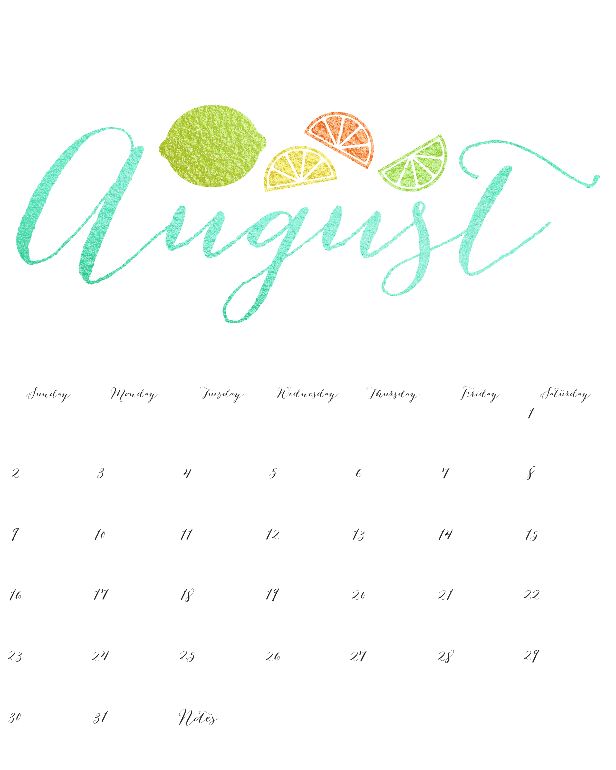 August 2015 Calendar Svg Free Library - Rr Collections - Free Printable Clipart For August