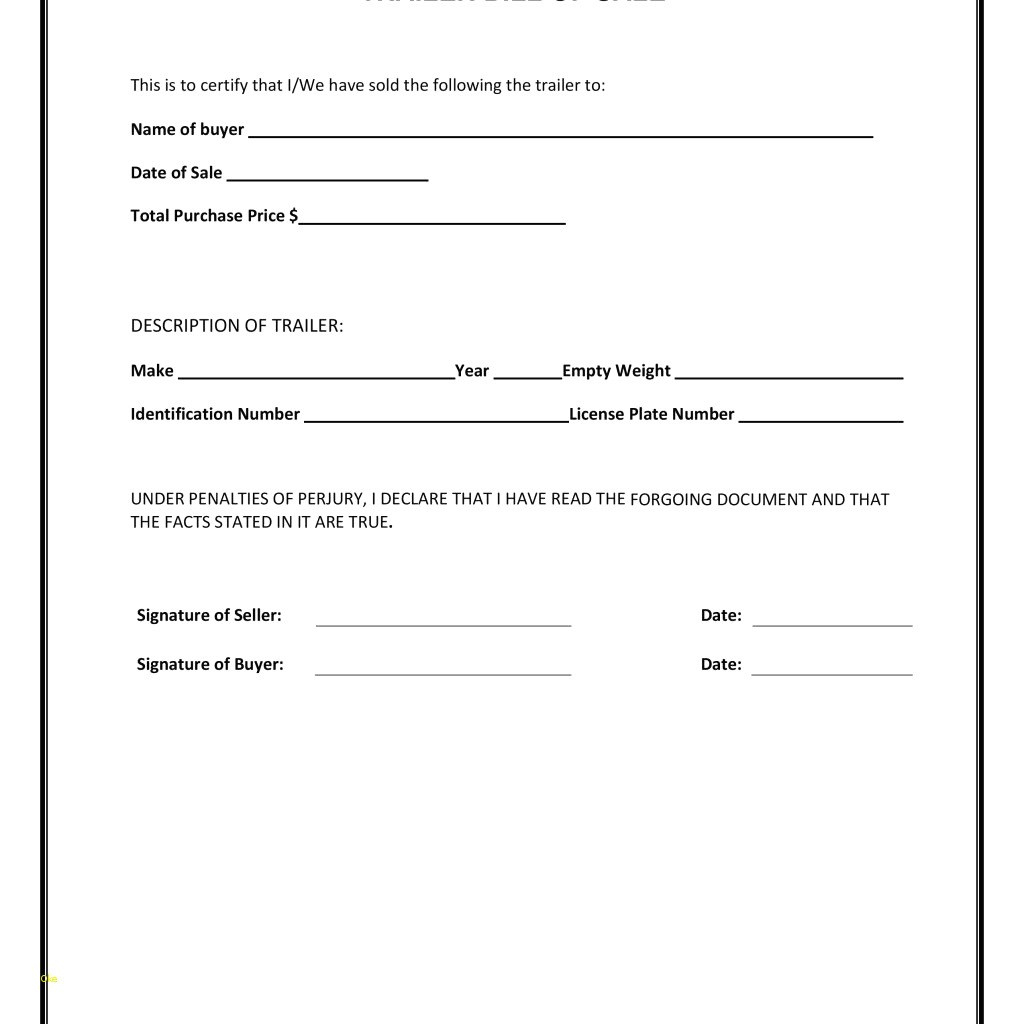 Auto Bill Of Sale Form – Bill Of Sale For A Vehicle Template - Free Printable Bill Of Sale For Car