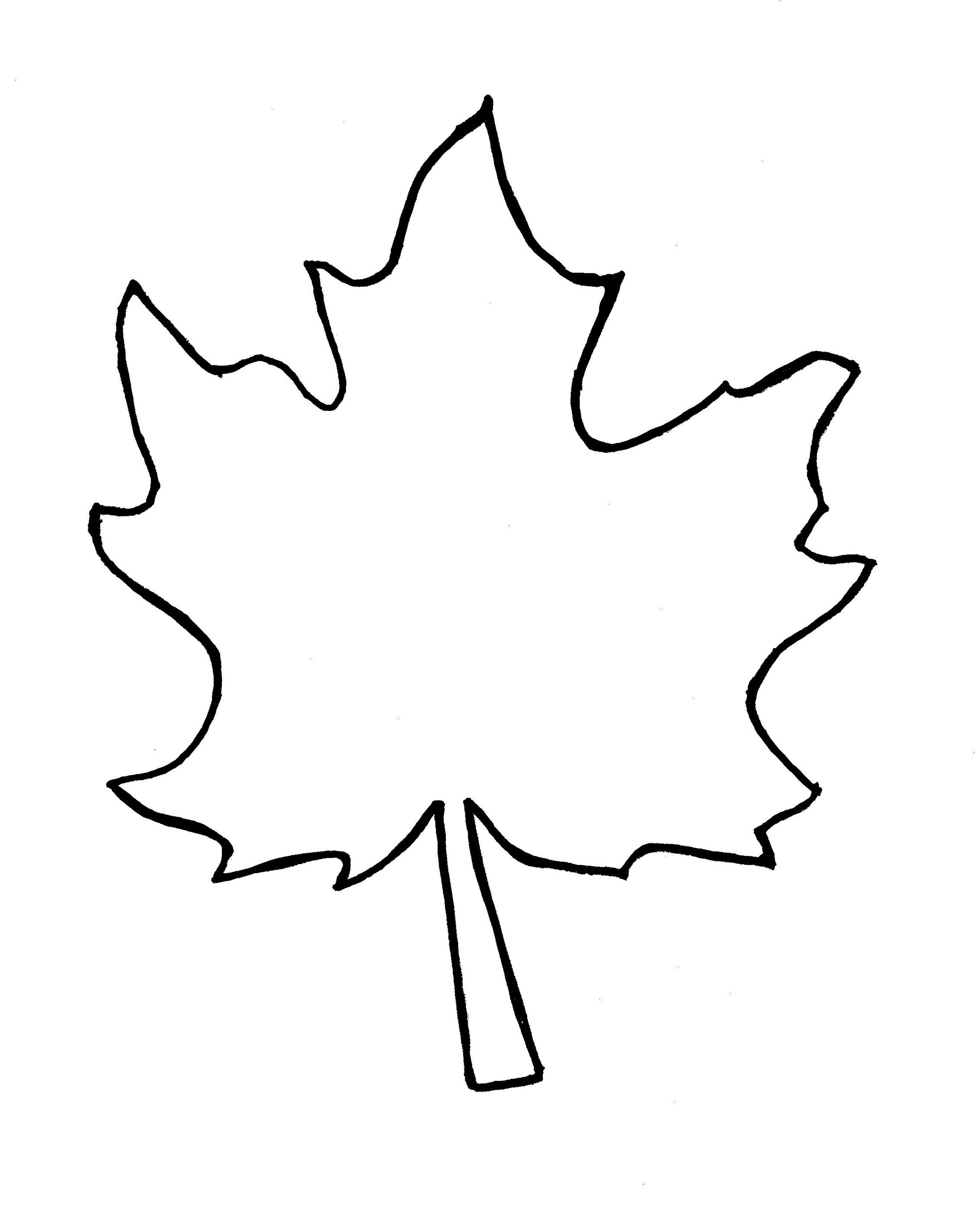 Autumn Leaf Outline Template Clipart Free To Use Clip Art Resource 2 - Free Printable Leaf Template
