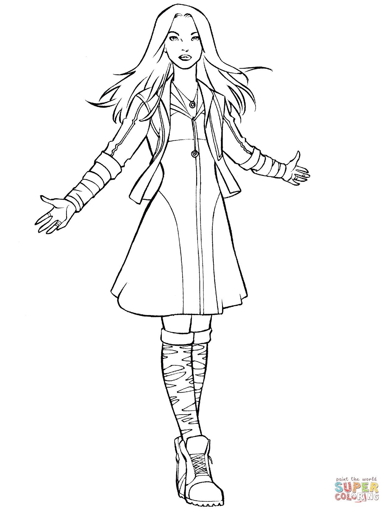 Avengers Scarlet Witch Coloring Page | Free Printable Coloring Pages - Free Printable Pictures Of Witches