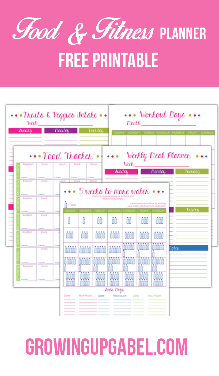 "Avoid ""hanger"" With A Fitness And Food Planner - Free Printable Fitness Planner"