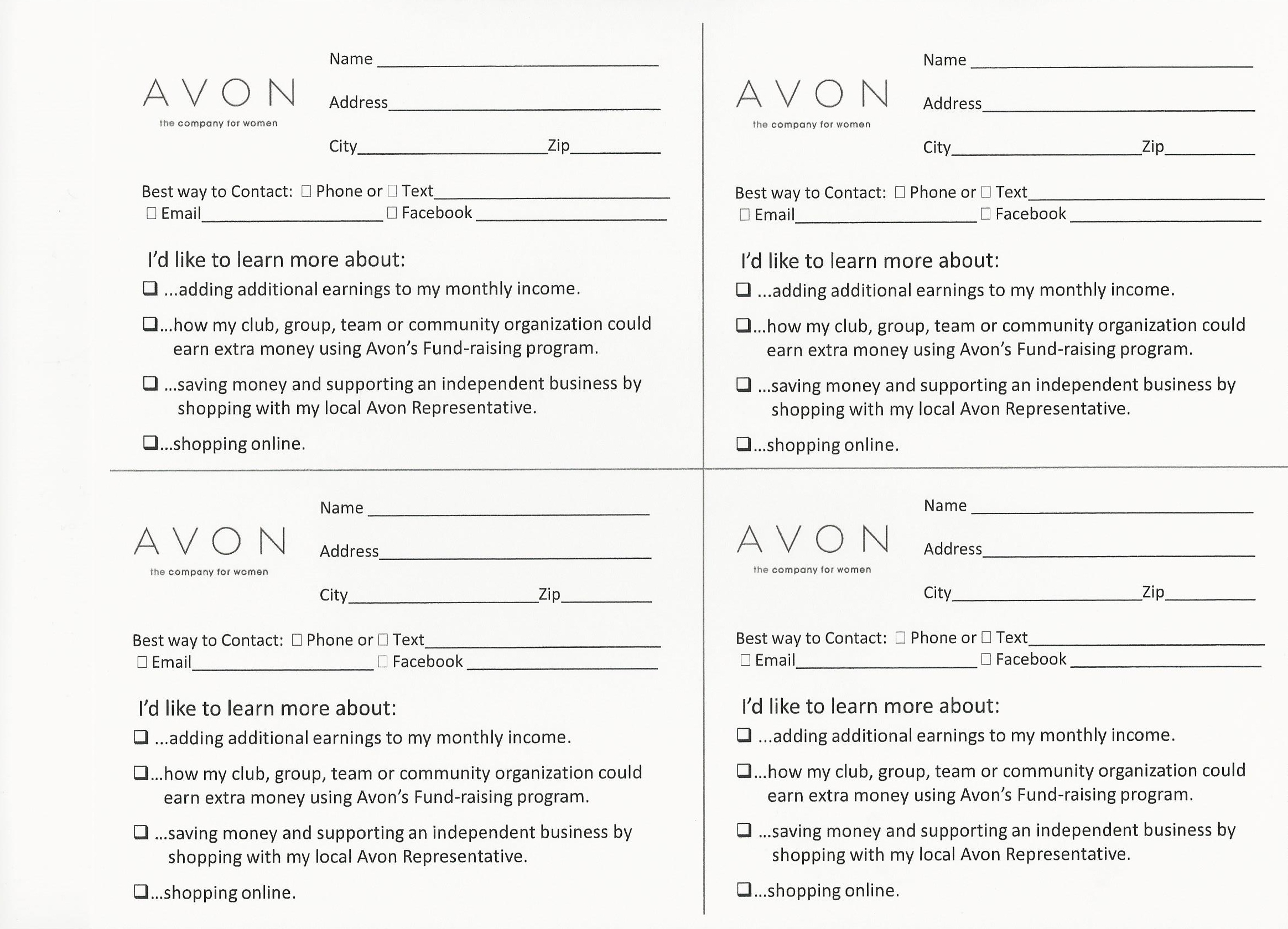 Avon Flyers & Charts | Avon Beauty - Free Printable Avon Flyers