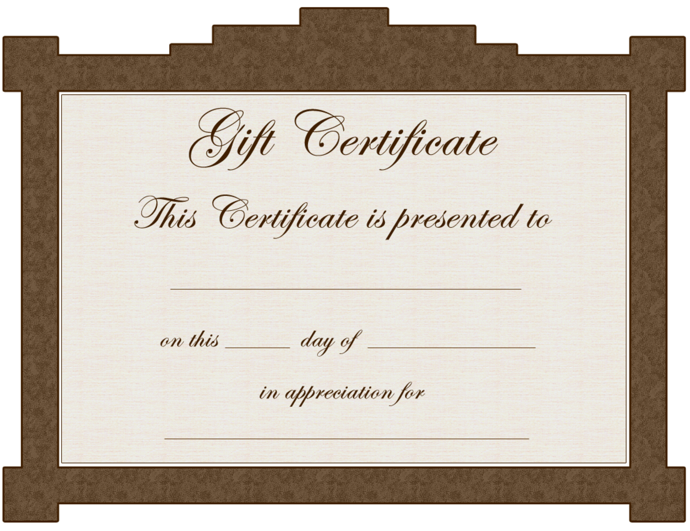 Avon Gift Certificate Template - Clip Art Library - Free Printable Tattoo Gift Certificates