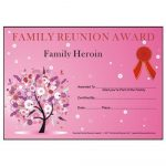Award Certificates Archives   Family Reunion Hut   Reunion Basics   Free Printable Family Reunion Awards