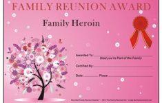 Free Printable Family Reunion Awards