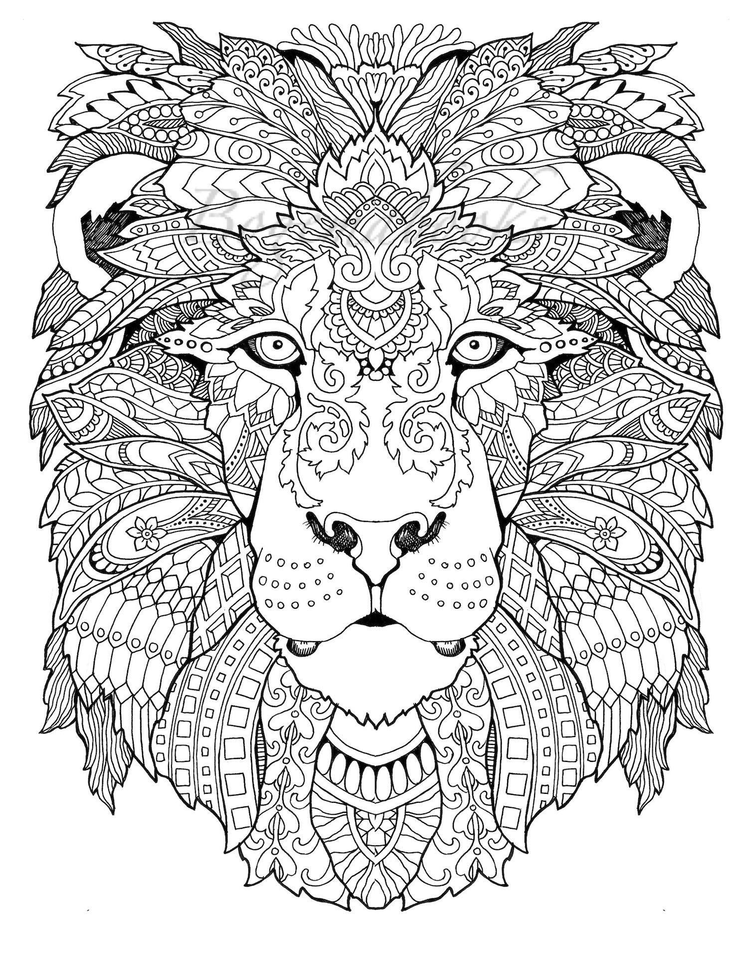Awesome Animals Adult Coloring Book Coloring Pages Pdf | Awesome - Free Printable Coloring Pages For Adults Pdf