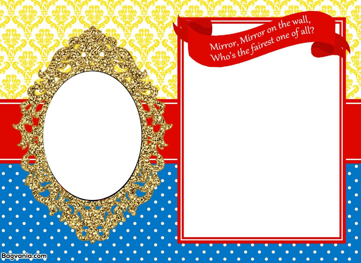 Awesome Free Printable Snow White Birthday Invitations | Bagvania - Snow White Invitations Free Printable