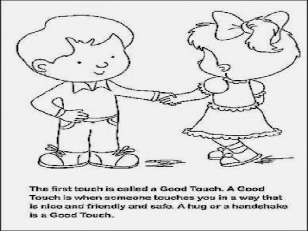 Awesome Good Touch Bad Touch Coloring Book Images - Printable - Free Printable Good Touch Bad Touch Coloring Book