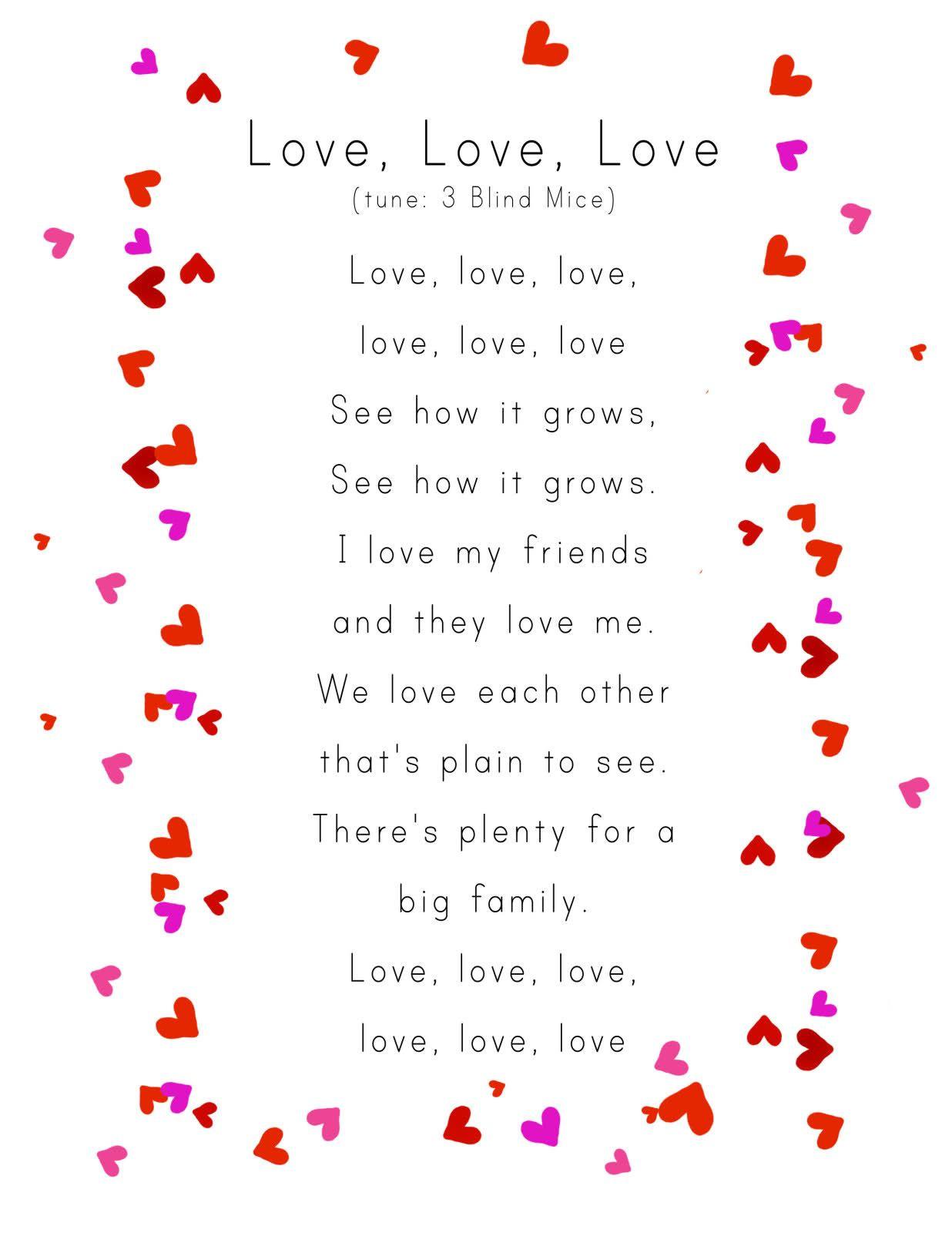 Awww For Valentine's Day Week :) | Valentine's Preschool | Valentine - Free Printable Romantic Poems