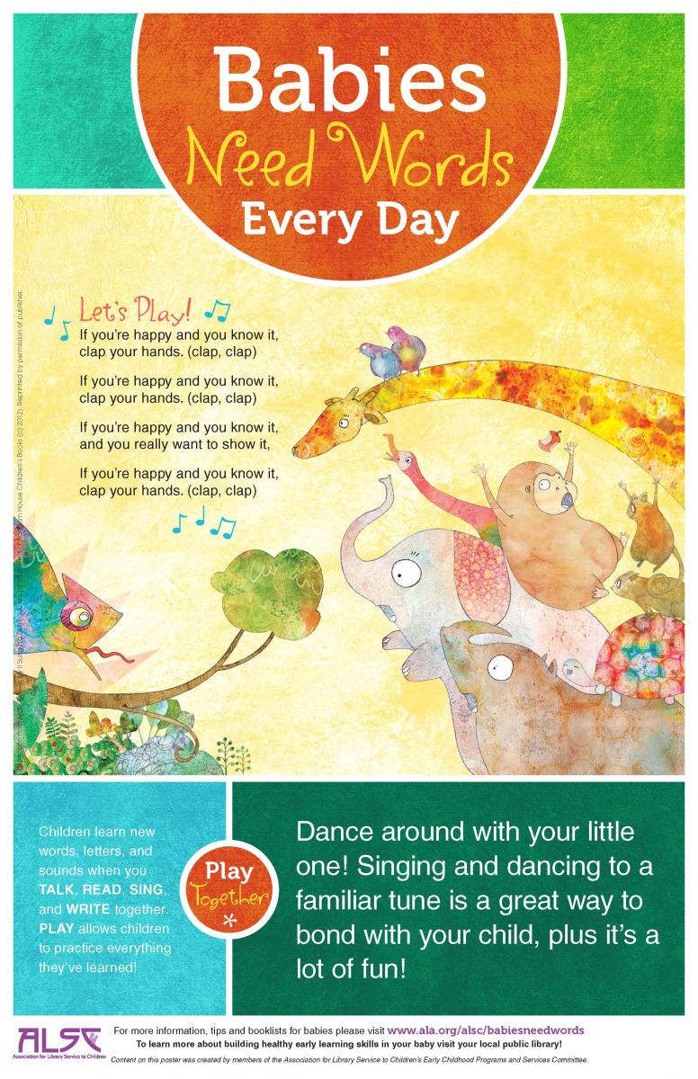 Babies Need Words Every Day: Talk, Read, Sing, Play   Association - Literacy Posters Free Printable