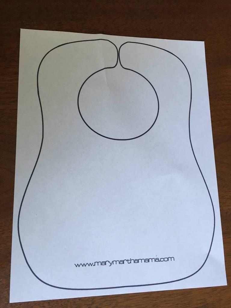 Baby Bib Tutorial With Free Printable Pattern – Mary Martha Mama - Free Printable Bib Pattern