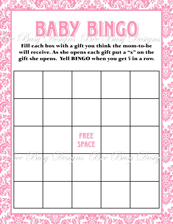 Baby Bingo Template   Madinbelgrade - Baby Bingo Free Printable