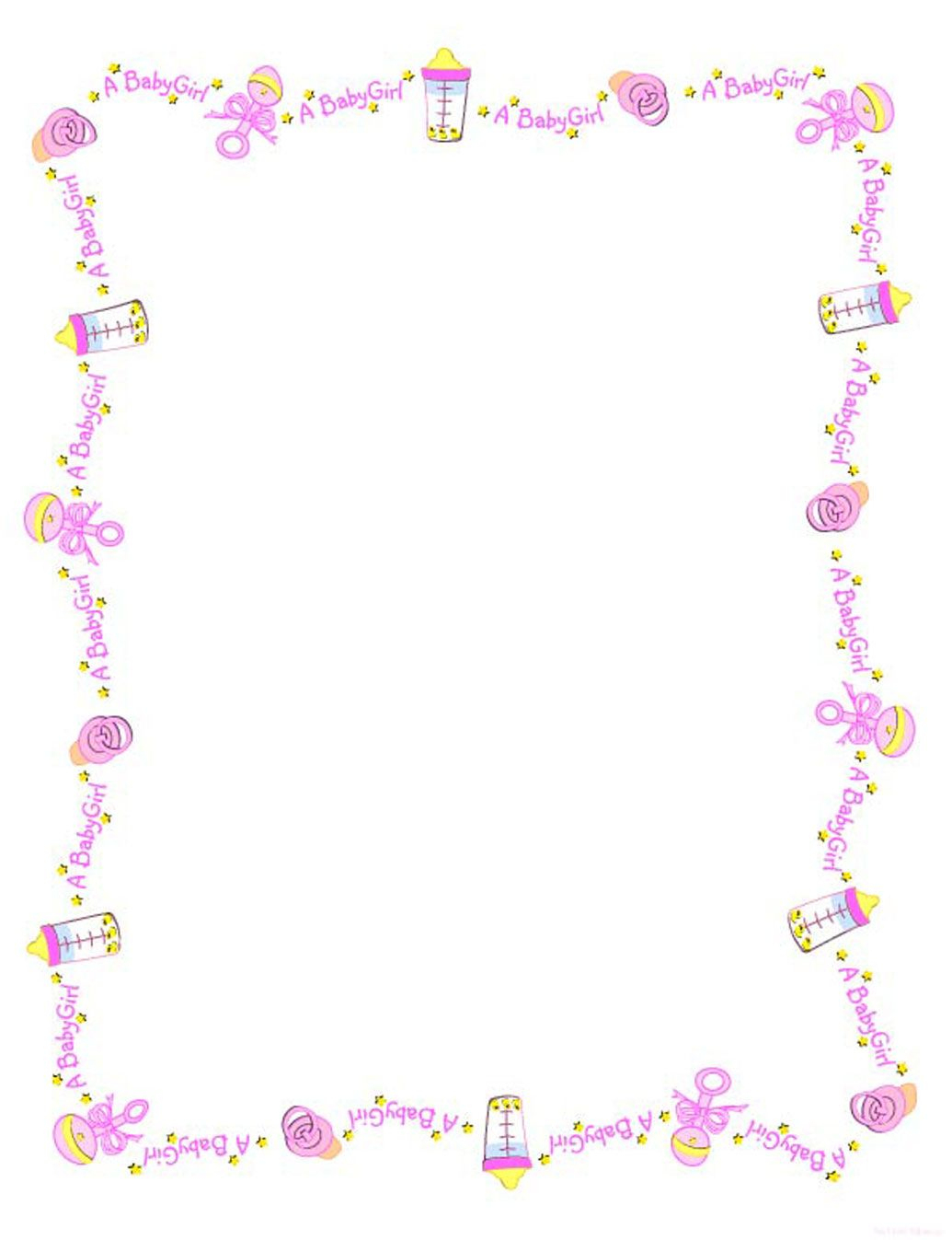 Baby Girl Borders Clipart - Clipart Kid | Projects | Baby Shawer - Free Printable Baby Borders For Paper