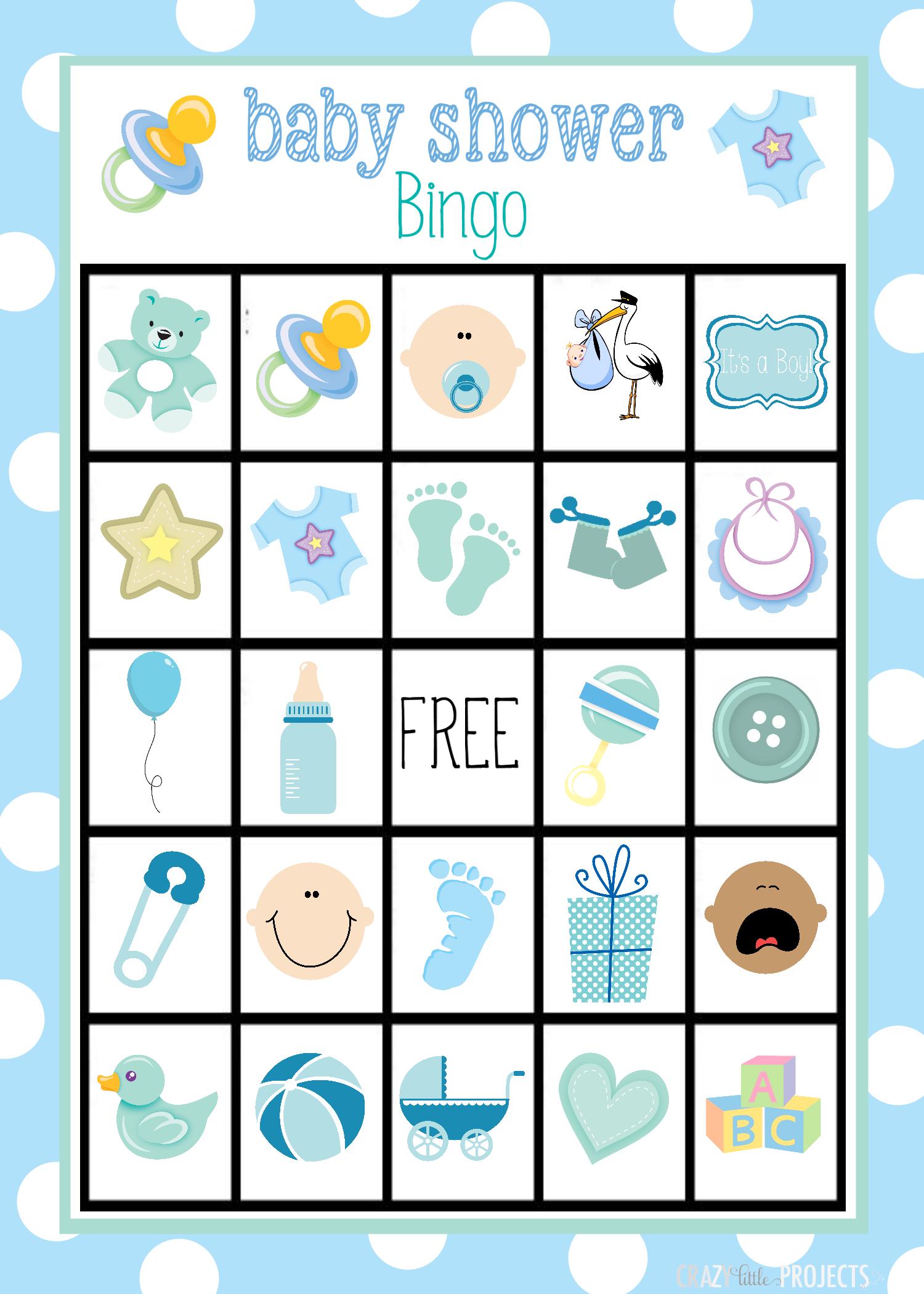 Baby Shower Bingo Cards - Free Printable Baby Shower Bingo Cards