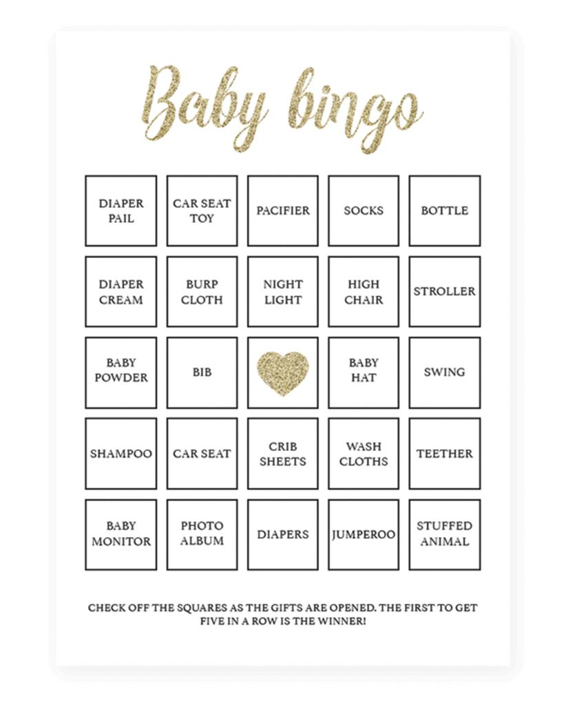 Baby Shower Bingo Cards Printable - Printable Cards - 50 Free Printable Baby Bingo Cards