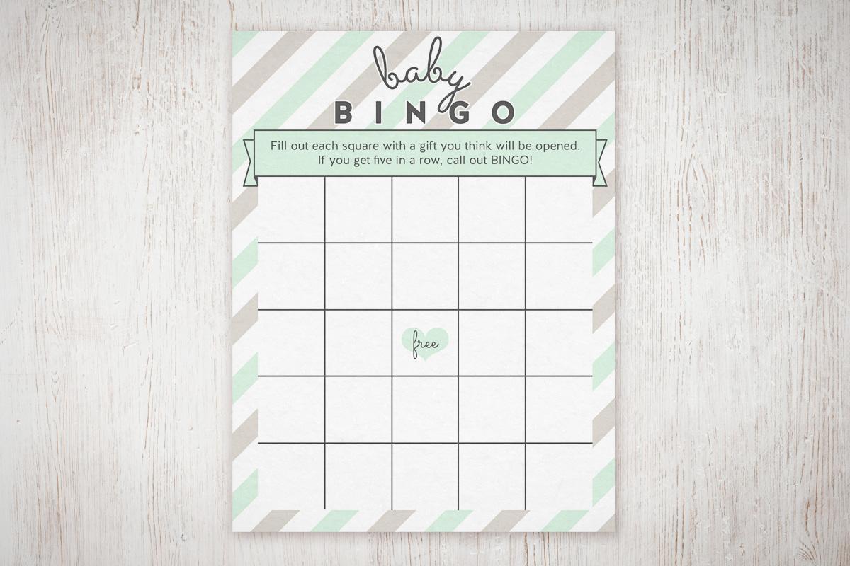 Baby Shower Bingo Free Printable | The Little Umbrella - Free Printable Baby Shower Bingo Cards Pdf