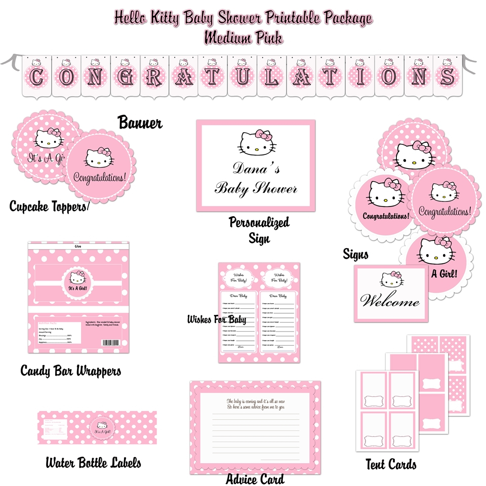 Baby Shower Invitation Template Hello Kitty Baby Shower Invitations - Free Printable Hello Kitty Baby Shower Invitations