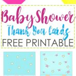 Baby Shower Thank You Cards Free Printable ~ Daydream Into Reality   Free Printable Baby Shower Thank You Cards