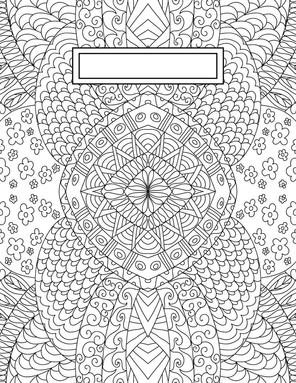 Back To School Binder Cover Adult Coloring Pages | Bullet Journaling - Free Printable Binder Covers To Color