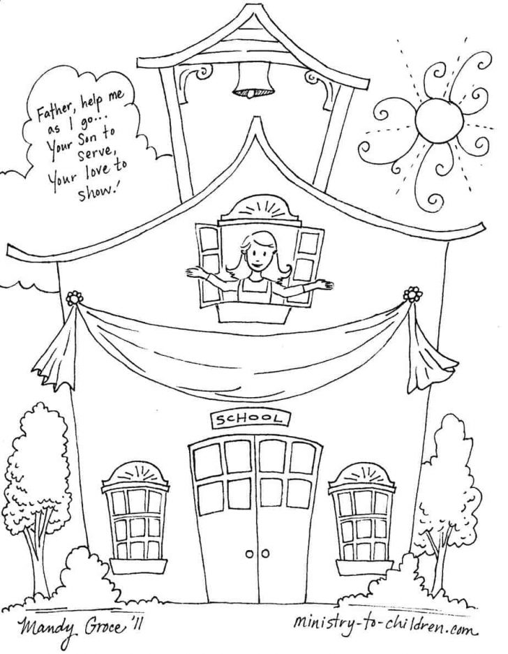 Back To School Free Printable Coloring Pages