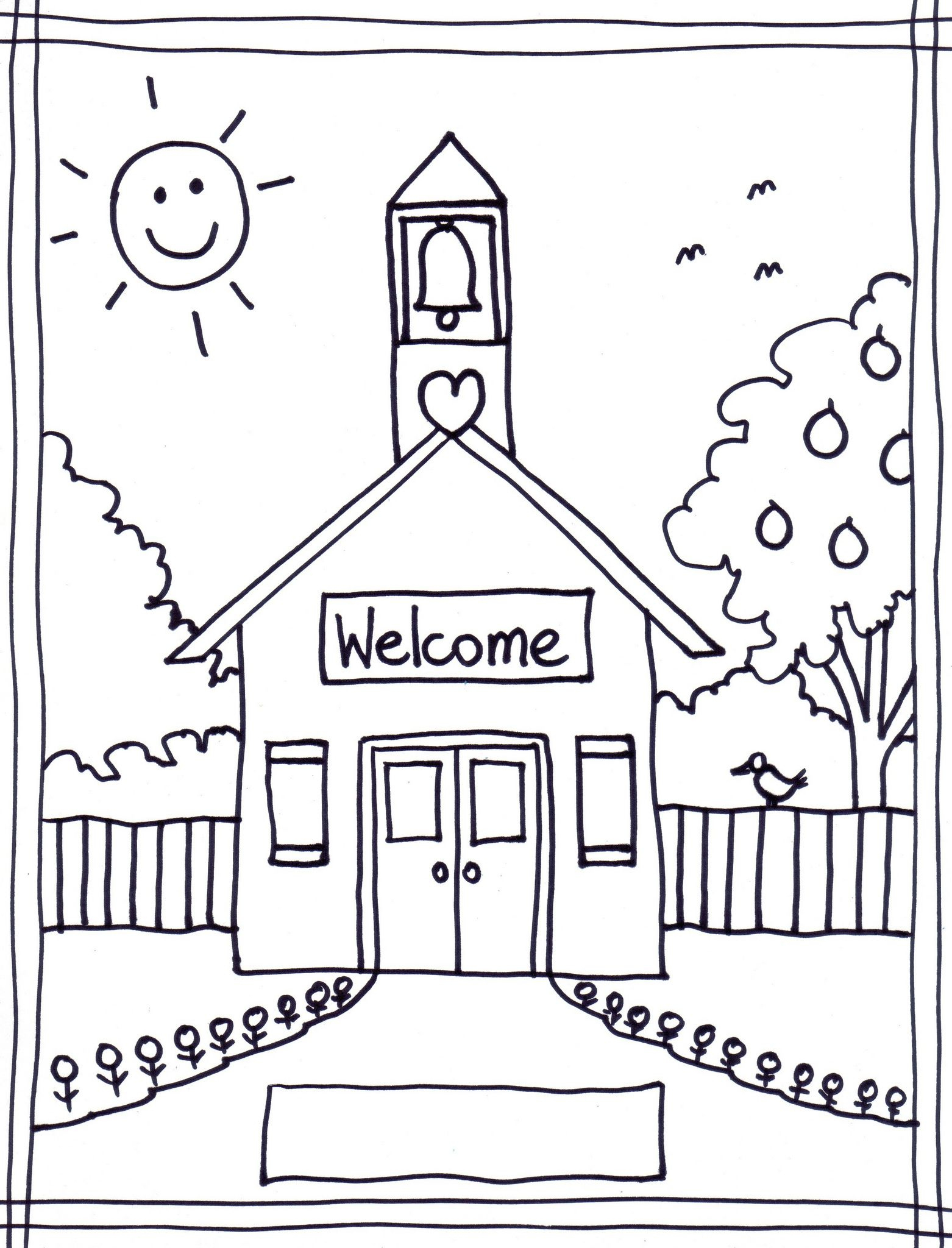 Back To School Coloring Pages Free Printables Image 22 … | Classroom - Back To School Free Printable Coloring Pages