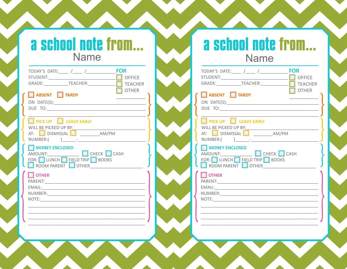 Back-To-School Printables – Clairebella Studio - Free Printable School Notes