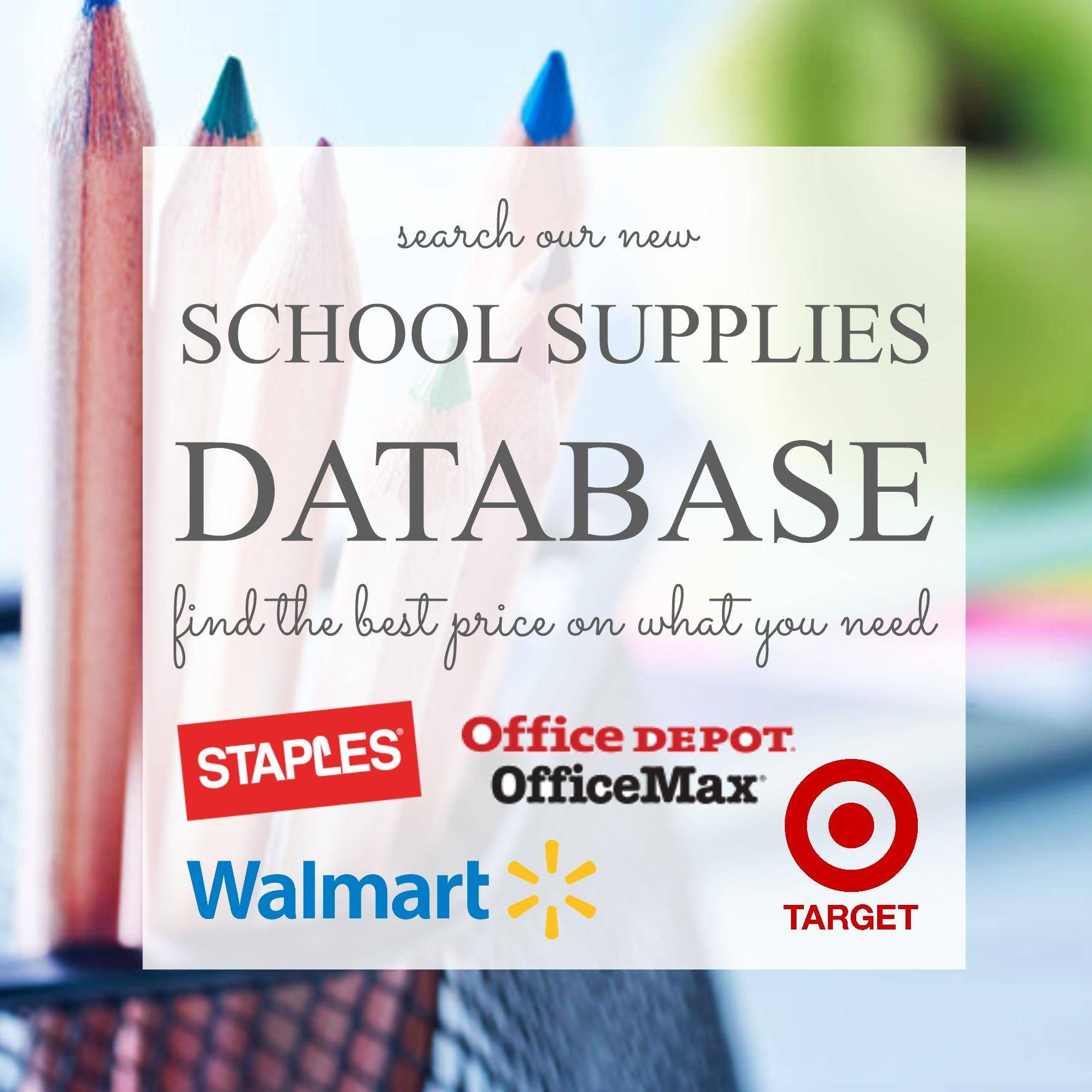 Back To School Supplies Price List 2018 - Free Printable Coupons For School Supplies At Walmart
