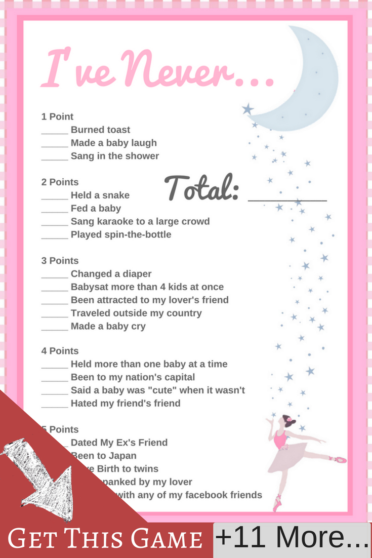 Ballerina Baby Shower Printable Set | Babyshower Games | Baby Shower - Free Printable Baby Shower Games For Twins