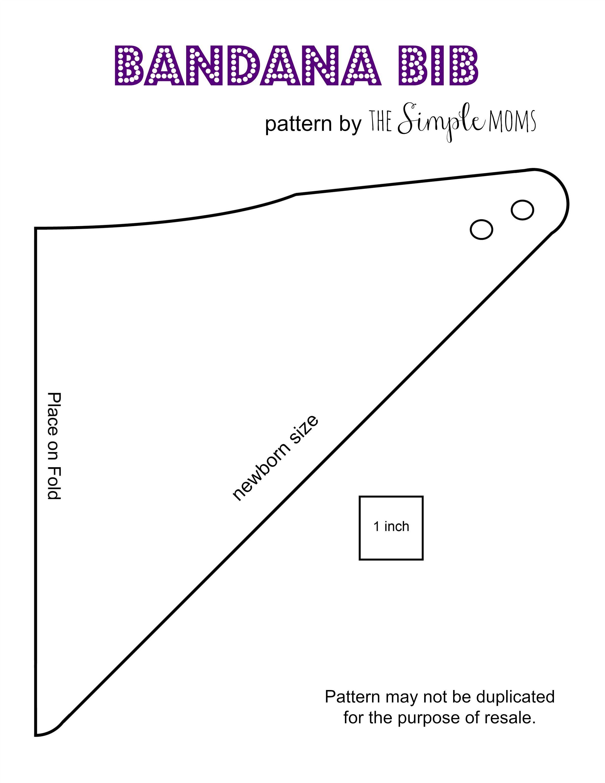 Bandana Bib Pattern … | Pleny - Free Printable Baby Bandana Bib Pattern