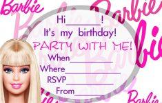 Barbie Birthday Invitations Templates | Margie's Pins - Free Printable Barbie Birthday Party Invitations