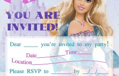 Barbie Coloring Pages: Barbie Printable Invitations For A Party - Free Printable Barbie Birthday Party Invitations