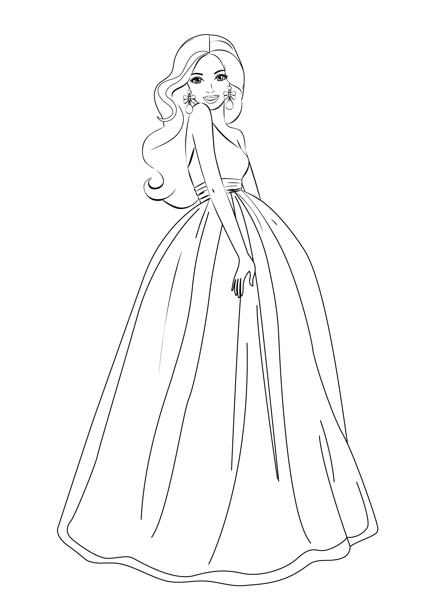Barbie Coloring Pages For Girls Free Printable | Barbie | Pinterest - Free Printable Barbie Coloring Pages
