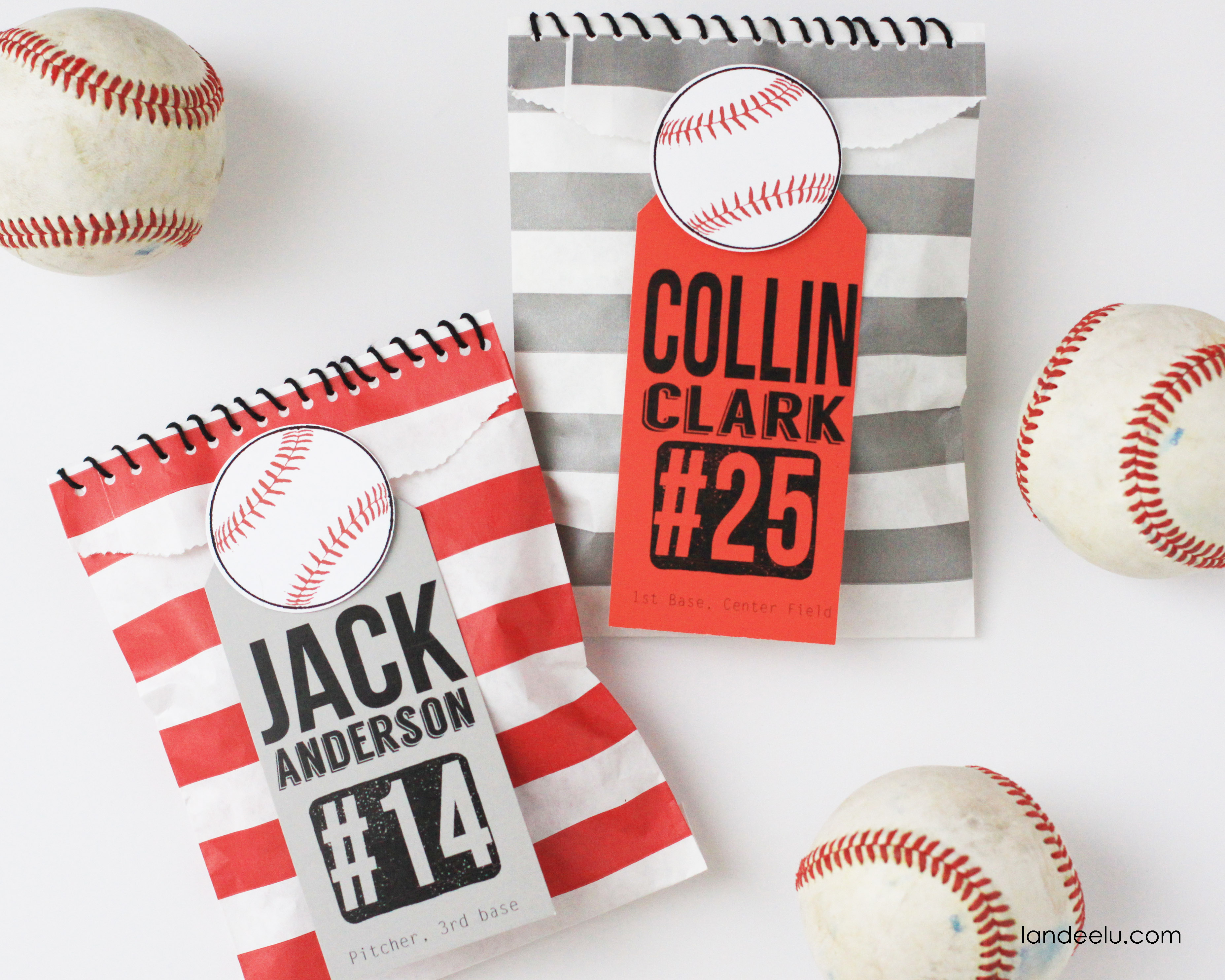 Baseball Bitty Bags - Whisker Graphics Whisker Graphics - Free Printable Baseball Favor Tags