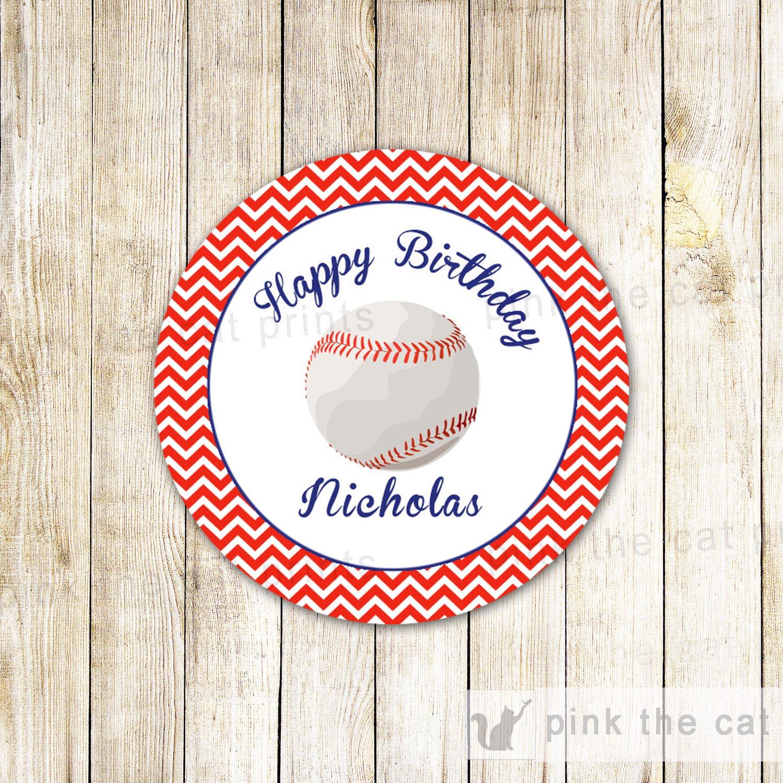 Baseball Label Baseball Favor Tag Baseball Party Label Red | Etsy - Free Printable Baseball Favor Tags
