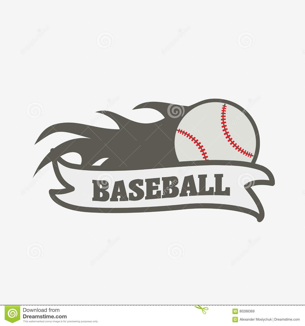 Baseball Logo, Badge Or Label Design Template. Stock Vector - Free Printable Baseball Logos