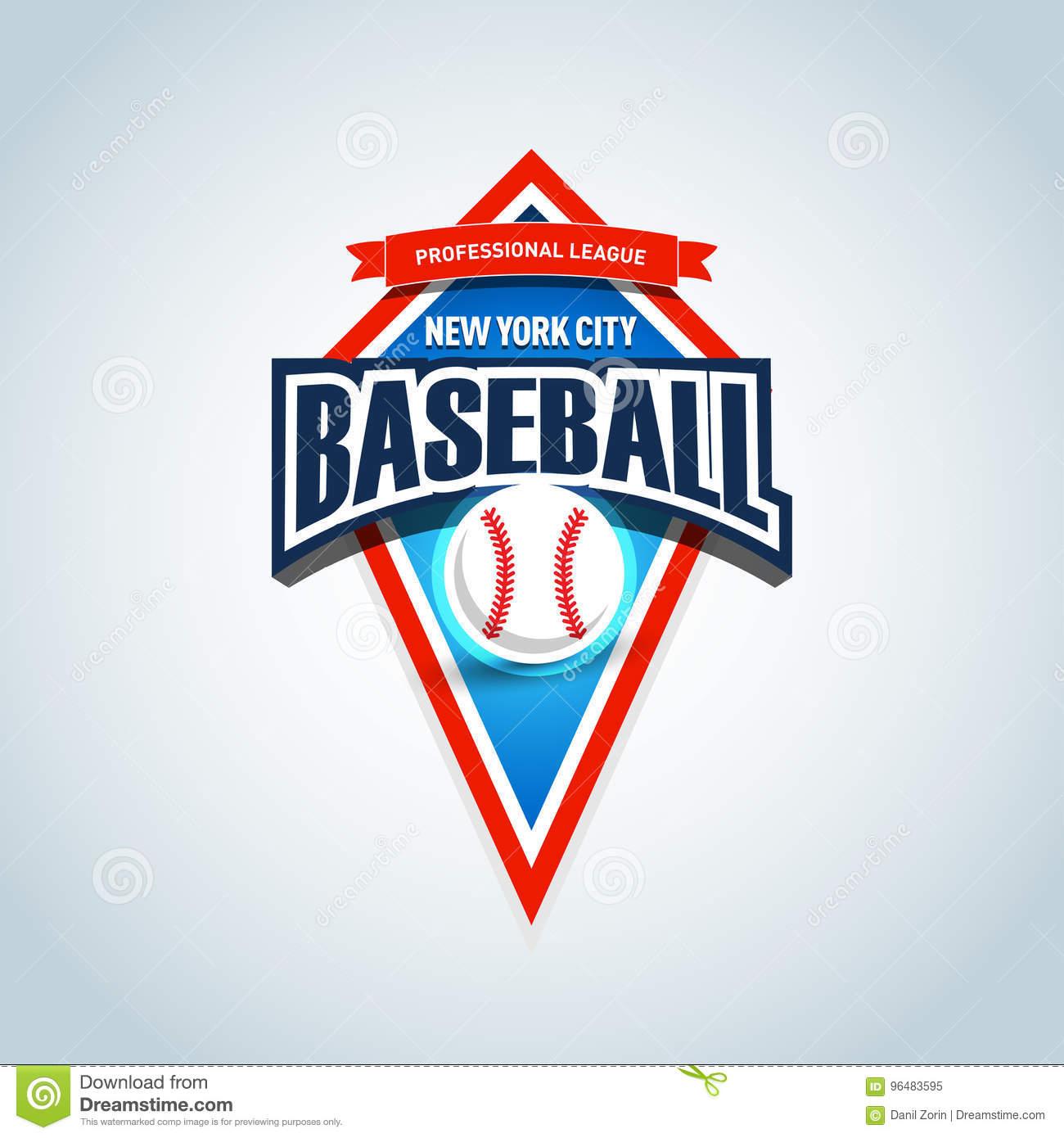 Baseball Team Logo Template. Baseball Emblem, Logotype Template, T - Free Printable Baseball Logos
