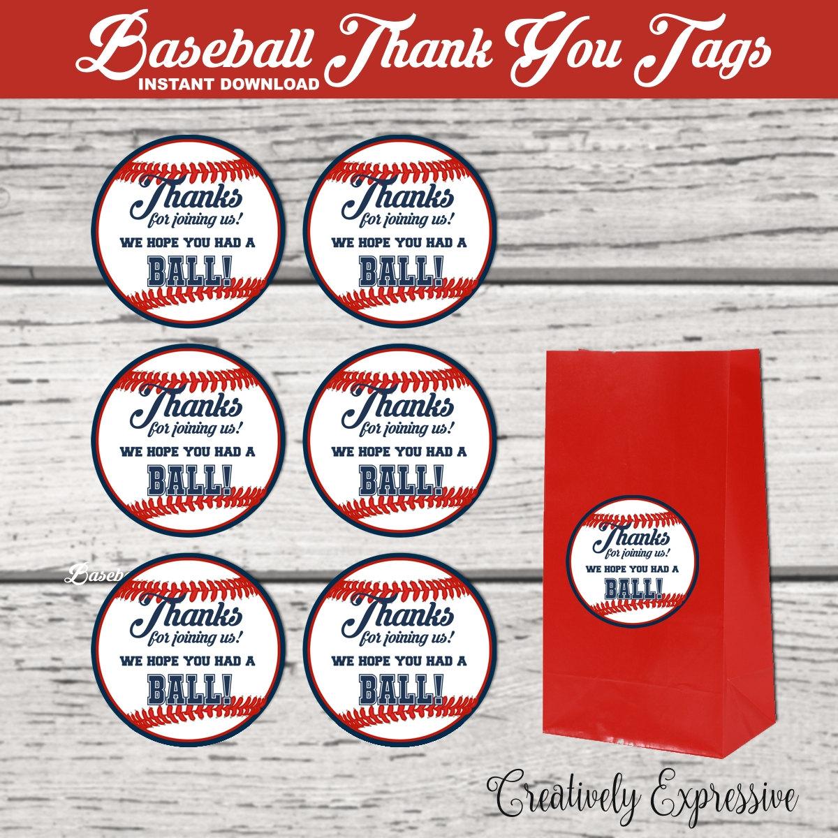 Baseball Themed Baby Shower Free Printables - Baby Shower Ideas - Free Printable Baseball Favor Tags