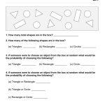 Basic Statistics: Probability I (Set 1)   Free Printable Children's – Free Printable Statistics Worksheets