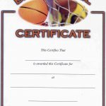 Basketball Award Certificate Reads | Awards | Pinterest | Basketball   Basketball Participation Certificate Free Printable