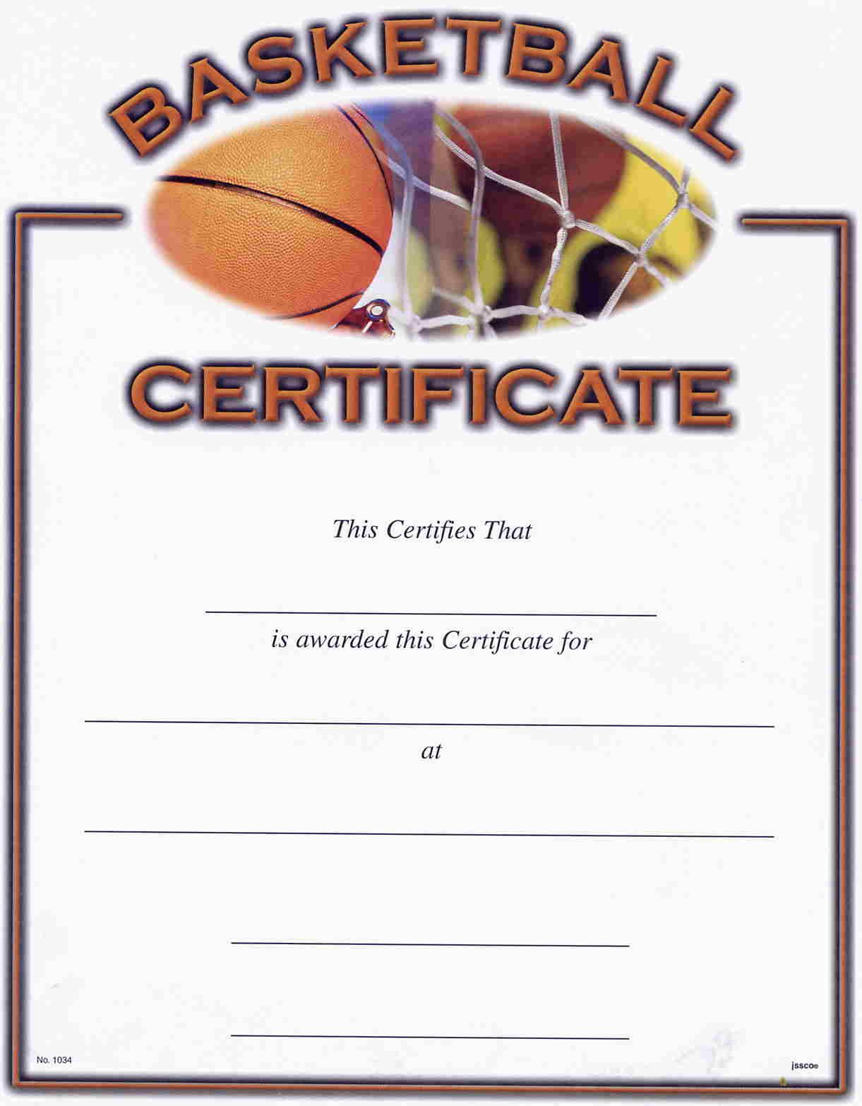 Basketball Award Certificate Reads | Awards | Pinterest | Basketball - Basketball Participation Certificate Free Printable