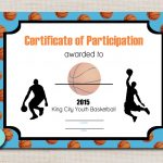 Basketball Sports Award Certificate 8.5 X 11 Printable Digital | Etsy   Basketball Participation Certificate Free Printable