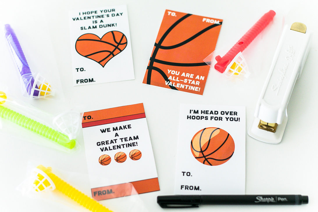 Basketball Valentine Card Free Printable - Free Printable Basketball Cards
