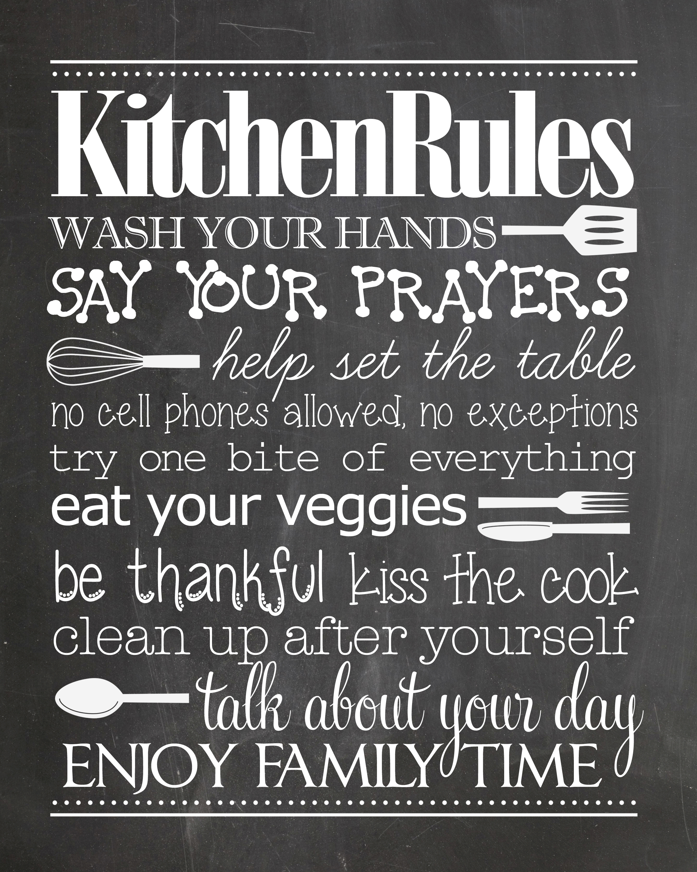 Bathroom Rules Free Printable - How To Nest For Less™ - Free Printable Bathroom Quotes