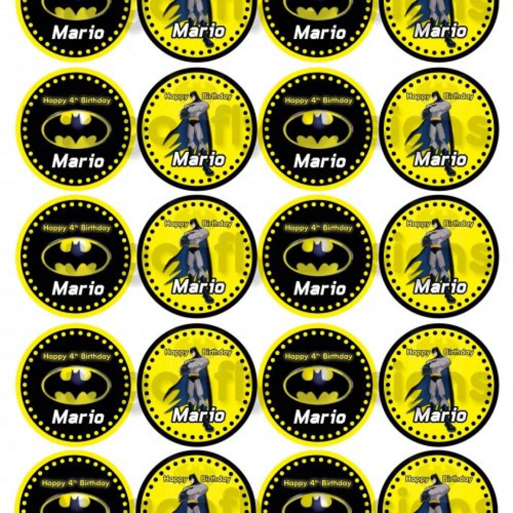 Batman Cupcake Toppers Free Printable | Free Printable - Batman Cupcake Toppers Free Printable