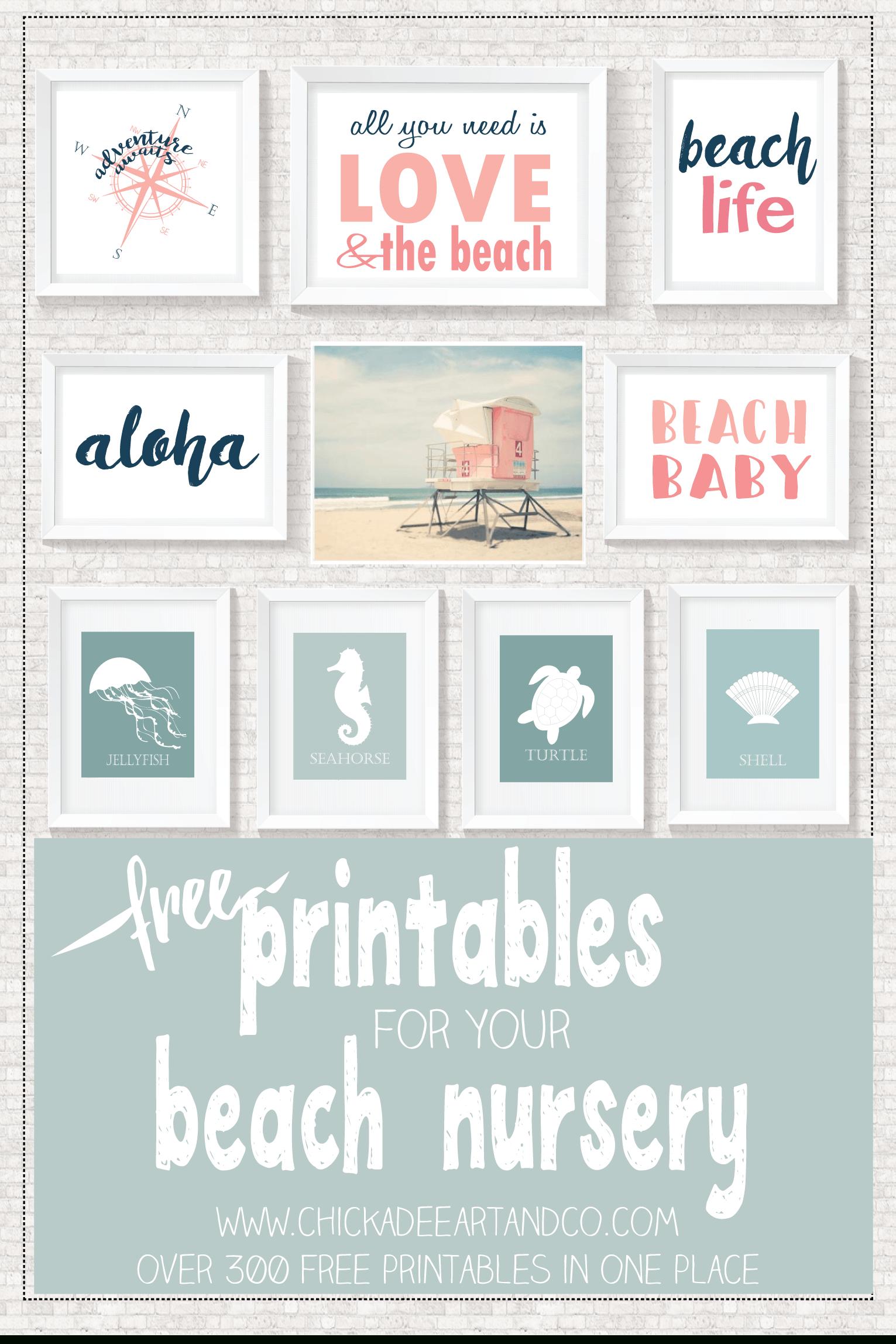 Beach Printables | ~ Printables ✂ | Pinterest | Décoration Bébé - Free Printable Beach Pictures